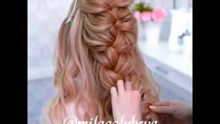 Düğün için örgü saç modeli   Nişan Örgü Saç yapımı 2017-2018