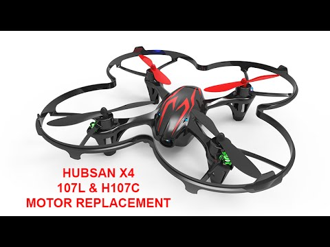 Hubsan x4 h107l motor replacement youtube for Hubsan x4 h107l motor upgrade