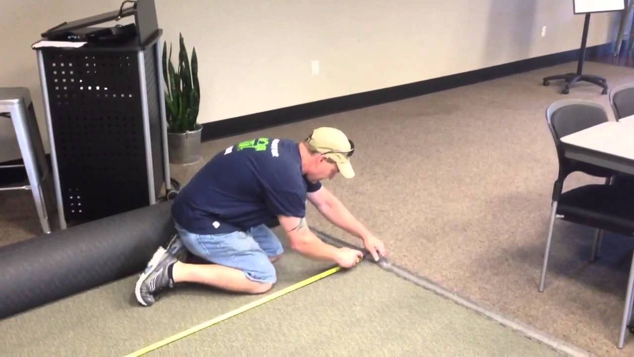 How To Install A Commercial Carpet - YouTube