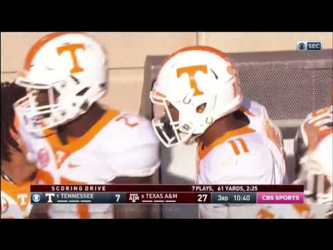 Texas A&M vs Tennessee 2016 -- Highlights