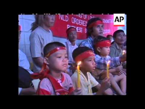 THAILAND: BANGKOK: PROTESTS STAGED OUTSIDE MYANMAR EMBASSY