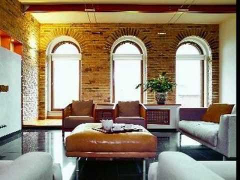 EUROCAM: Декоративный кирпич в интерьерах домов