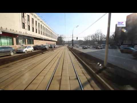 Travel Russia Moscow by tram №9
