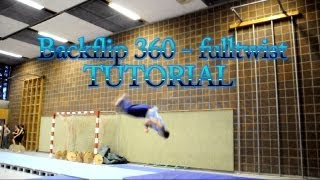 backflip full 360 twist tutorial tricking parkour gymnastic turnen