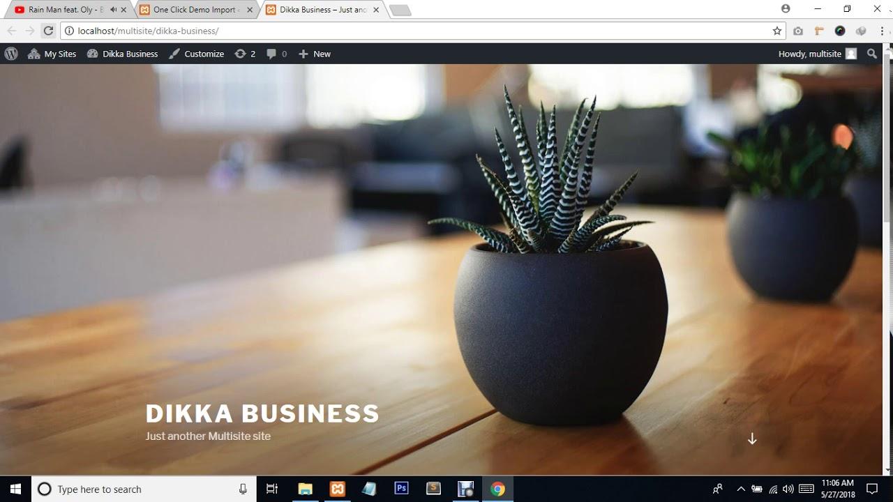 Dikka Business Free Theme Installation