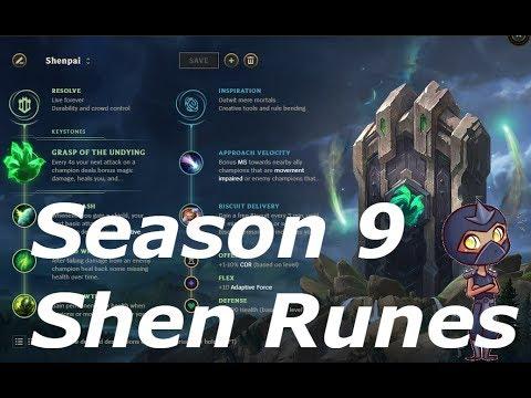 Preseason/Season 9 Shen Runes - (Shield Bash Thoughts)