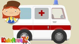Doctor McWheelie & an ambulance. Cartoons for children.