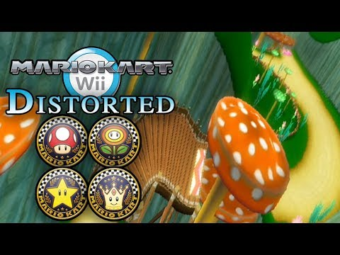 Mario Kart Wii - All Wii Tracks DISTORTED