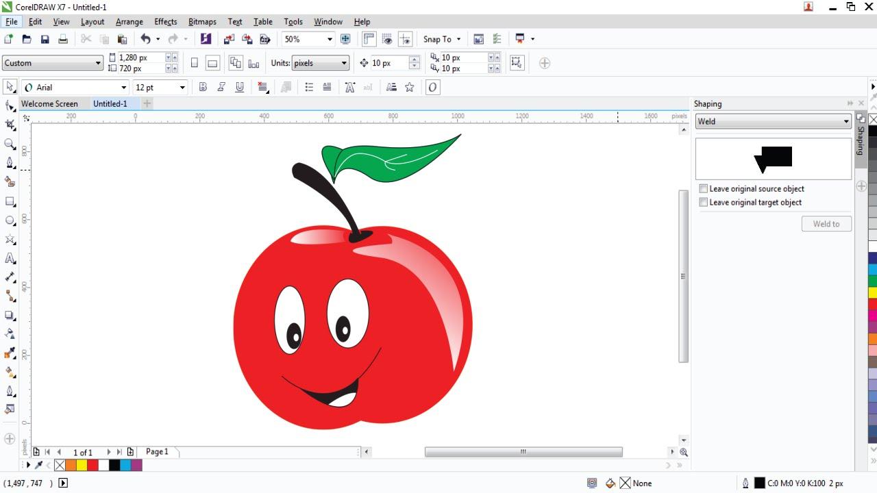 CorelDRAW Tutorials Menggambar Buah Apel 3D di CorelDraw