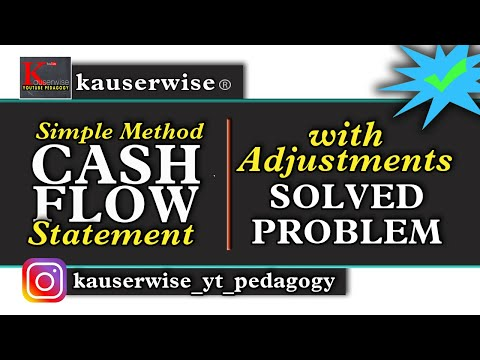 Cash Flow Statement with Adjustments - solved problem :-by k