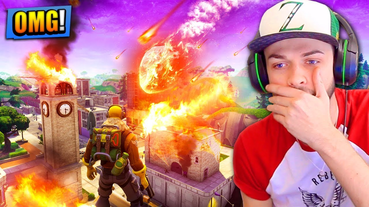 Tilted Towers Will Be Destroyed By A Meteor In Fortnite Battle