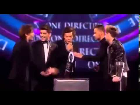 Harry Styles being cute at Brit Awards