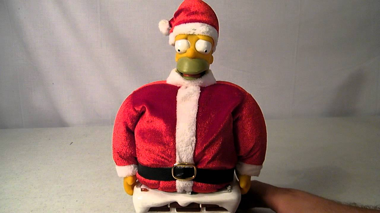The Simpsons CHRISTMAS HOMER Stuck In The Chimney Santa Homer ...