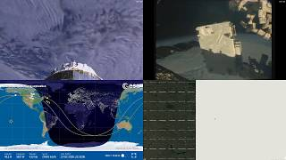 Passing Over North America - NASA/ESA ISS LIVE Space Station With Map - 207 - 2018-10-13