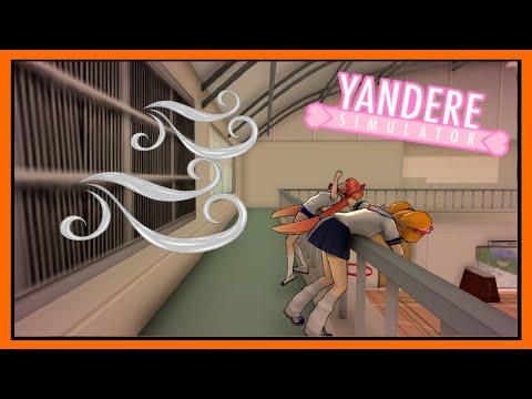 Using a fan to push Osana off the railing. - Yandere Simulator Concept