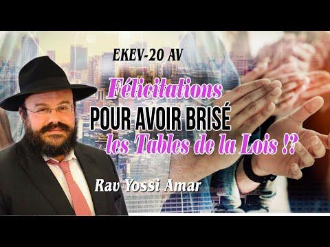 EKEV - 20 AV: Félicitations pour avoir brisé les Tables de la Lois !?