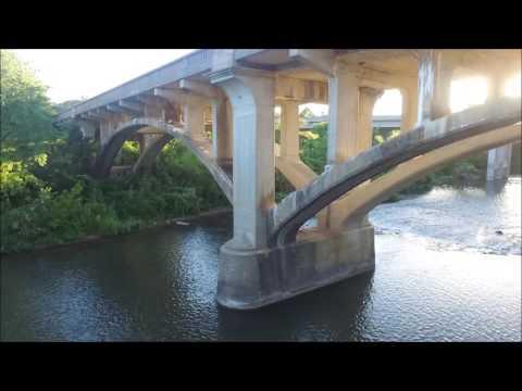 Redings Mill Bridge on Shoal Creek, Joplin Missouri - History and Drone Footage - DJI Phantom 3