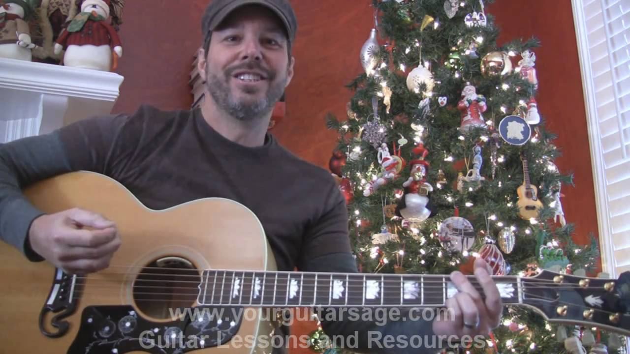 Silent Night - How to play on acoustic guitar Christmas song ...