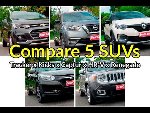 Compare os SUVs: Tracker x HR-V x Renegade x Kicks x Captur | Comparativo | Best Cars