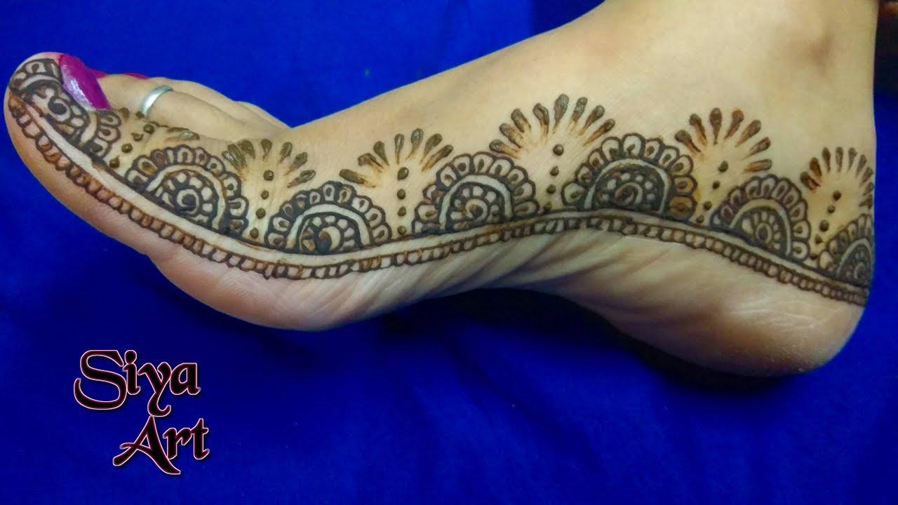 mehndi design for leg photo