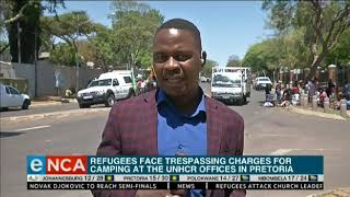Refugees face trespassing charges