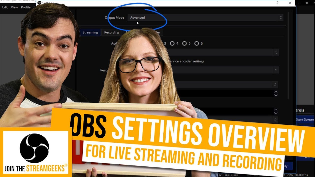 How to setup OBS for Live Streaming - StreamGeeks