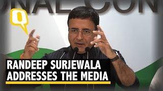 Congress Spokesperson Randeep Surjewala and Shaktisinh Gohil Address the Media