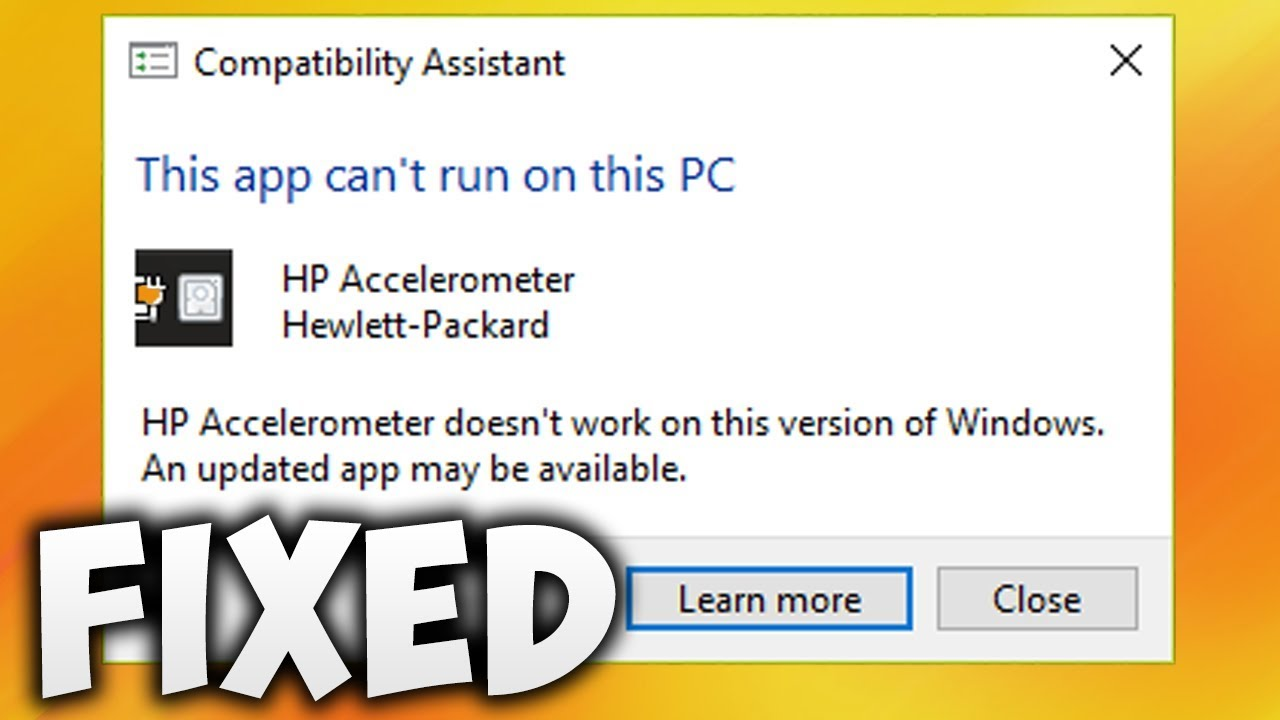 How To Fix HP Accelerometer Doesn't Work On This Version Of Windows Error  (Easy Solution)