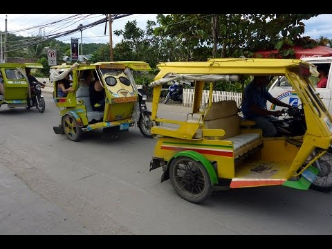 Boracay Island Philippines 2017 Tricycle Ride 1st Time EVER