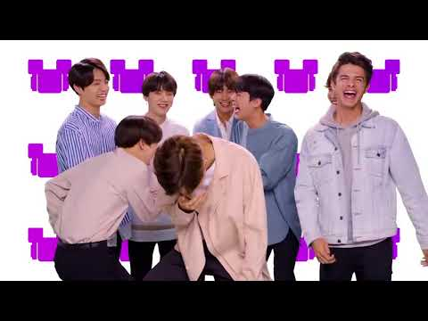 BTS So Happy Challenge with Brent Rivera- Radio Disney Music Awards #2