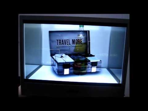 """Screen Cabinet Virtine mit transparenten Bildschirm 22"""""""