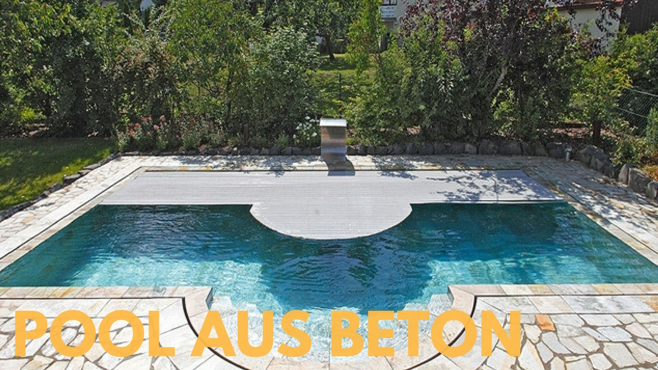 pool aus beton youtube. Black Bedroom Furniture Sets. Home Design Ideas