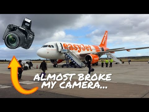 Flying Easy Jet from Inverness to London// Americans in the UK