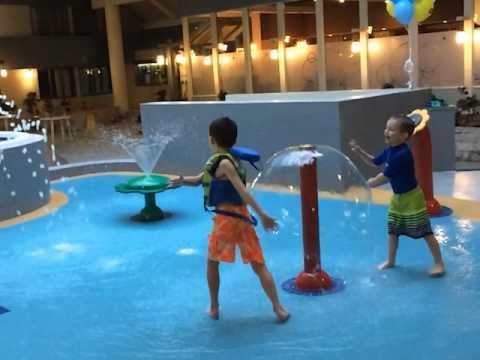 splash pad at saskatoon travelodge hotel youtube