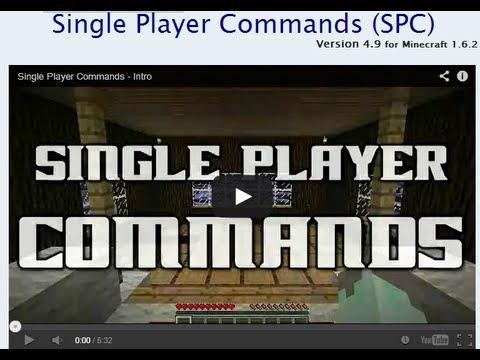 Minecraft 1.6.2 Singleplayer Commands [SPC 4.9] Installation Tutorial