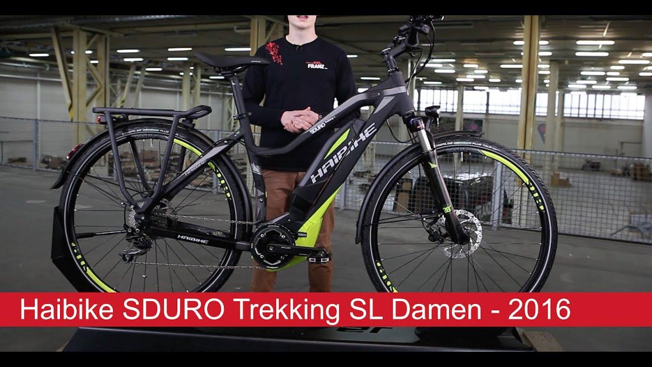 144e6a4c489 Haibike SDURO Trekking SL Damen - 2016 - 28 Zoll - YouTube