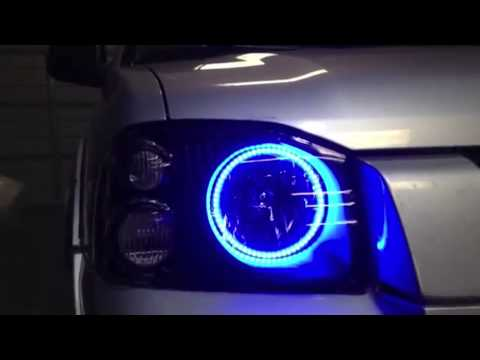 2001 2004 Nissan Frontier Colorshift Halo Headlights By Oracle Youtube
