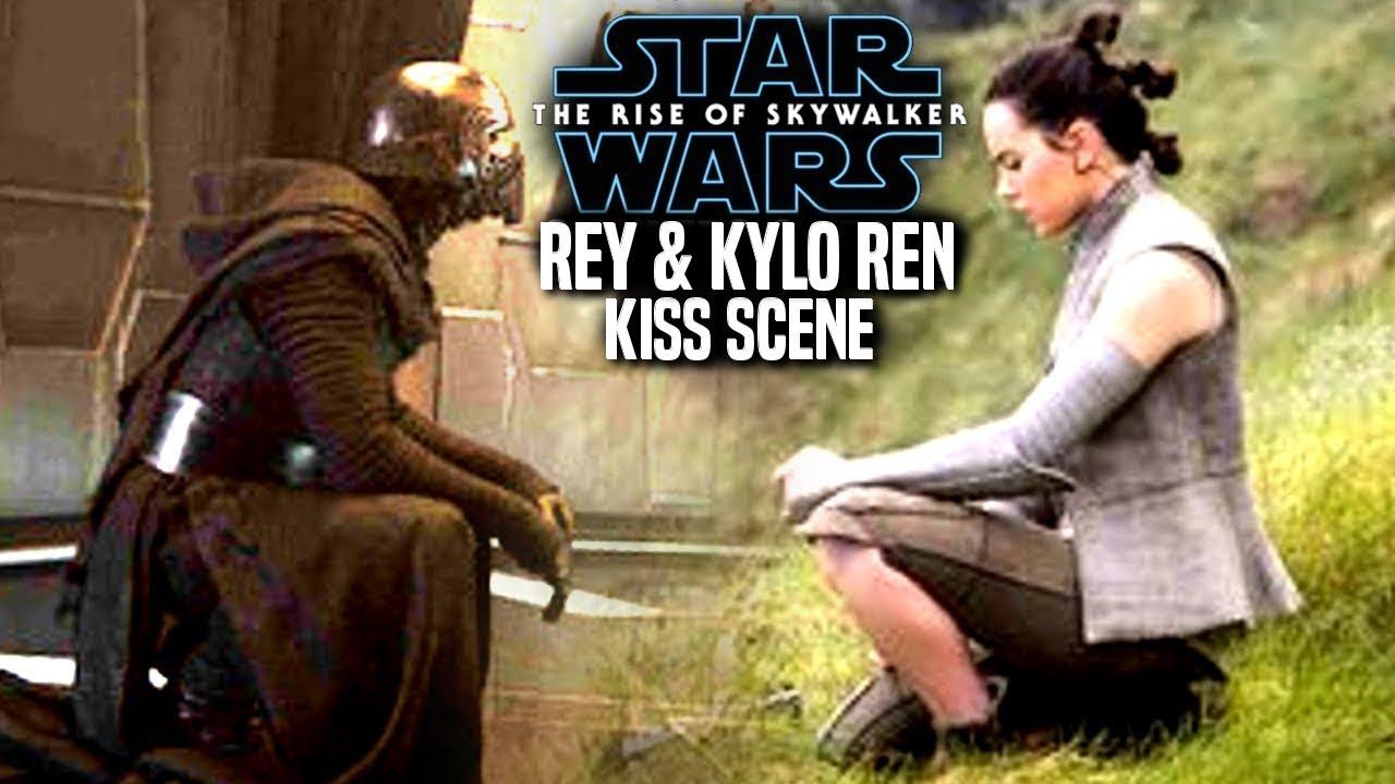 The Rise Of Skywalker Rey Kylo Kiss Scene Leaks Star Wars Episode 9 Youtube