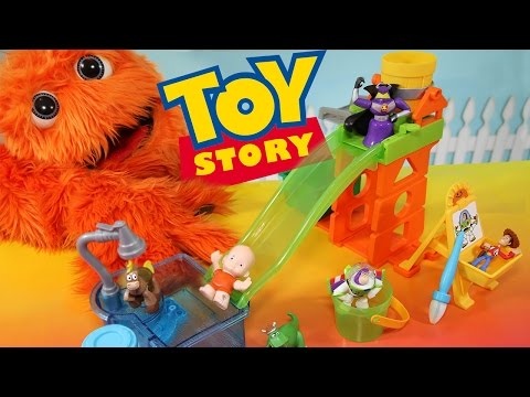 Toy Story Color Changers & Slide n Surprise Playground Playset Colour Shifters Disney Pixar