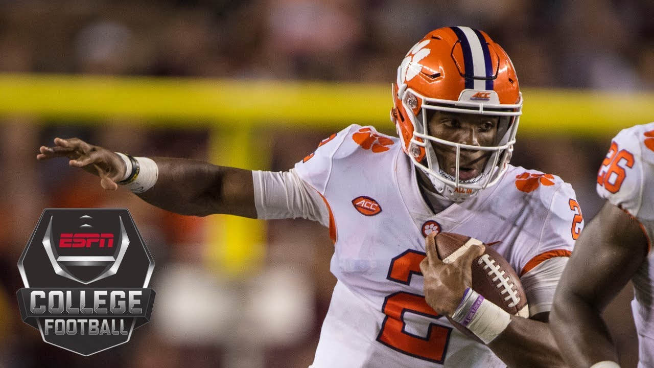 College Football Highlights Clemson Escapes Texas A M With 2 Point Win Espn