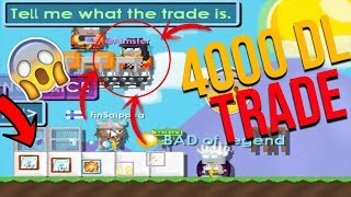 4000 DL LİK TRADE (GERÇEK)!! Growtopia En Büyük Tradeler !!