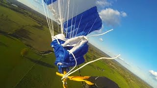 Friday Freakout: Skydiver Survives Impact From Spinning Line Twists At 850 ft