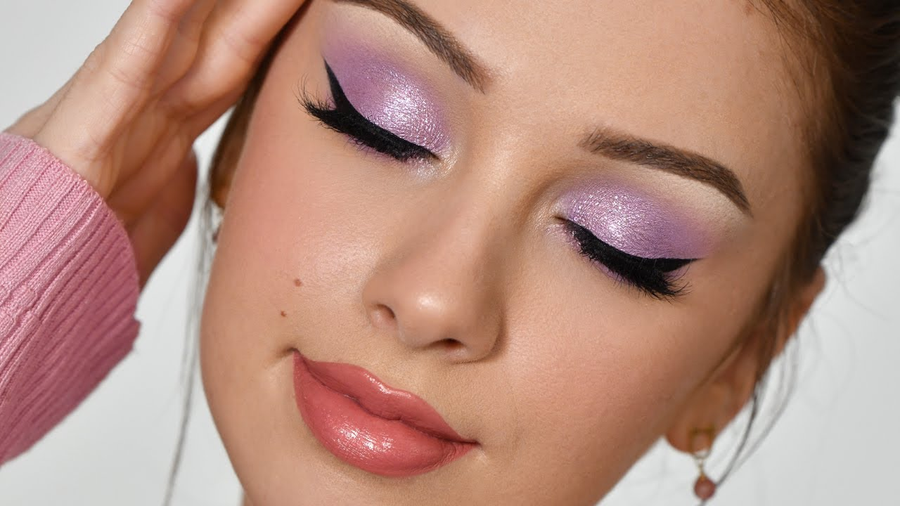 SUPER EASY Lilac Smokey Eye Makeup Tutorial