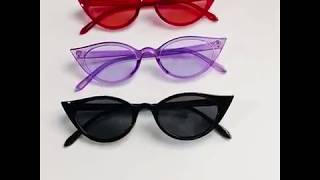 Ультрамодные солнцезащитные очки  кошачий глаз 4-1