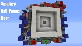 Compact 5x5 Vault/Funnel Door [Tutorial] (Thank You!)