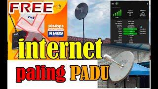 FREE Unifi. internet Paling Padu. External antenna parabolic piring Astro untuk modem sim card