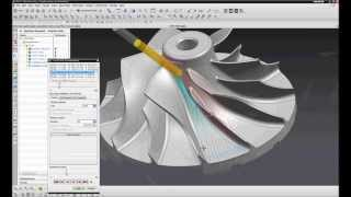 NX CAM. Manual impeller manufacturing, 5 axis (semi)finishing