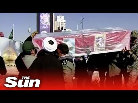 Qasem Soleimani Coffin Arrives For Burial In Kerman, Iran
