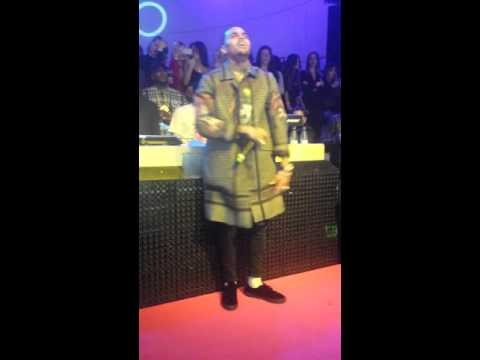 Chris brown singing at club shoko madrid in spain