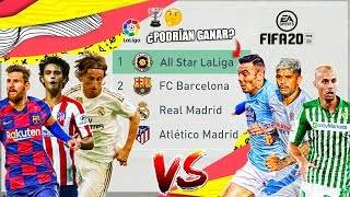 BARÇA, MADRID Y ATLETI vs ALL STAR LA LIGA ¿Quién ganará? | FIFA 20